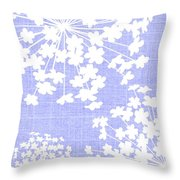 Botanicals Baby Blues Throw Pillow