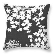 Botanicals Grey Throw Pillow