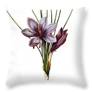 Botany: Saffron Throw Pillow by Granger