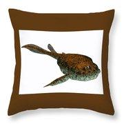 Bothriolepis Fish On White Throw Pillow