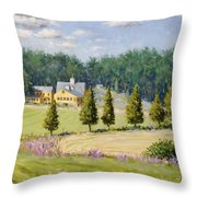 Bothways Farm Throw Pillow by Steven A Simpson