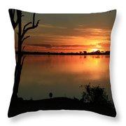 Botswanna Sunset Throw Pillow