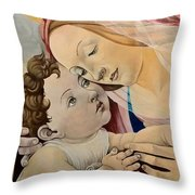 Botticelli's Madonna Throw Pillow