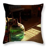 Bottle And Light Throw Pillow