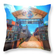 Bottle Cap Alley Throw Pillow by David Morefield