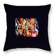 Bottle Jazz Throw Pillow