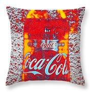 Bottle Of Coca-cola Throw Pillow
