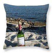 Bottled Beach Throw Pillow