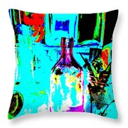 Bottles 27 Throw Pillow