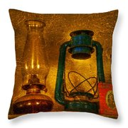 Bottles And Lamps Throw Pillow