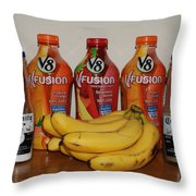 Bottles N Bananas Throw Pillow