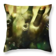 Bottles Of Color Throw Pillow