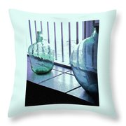 Bottles Still Life Throw Pillow