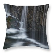 Bottom Of A Waterfall #3 Throw Pillow