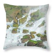 Bottom Of American Niagara Falls Throw Pillow