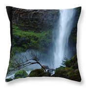 Bottom Of Watson Falls Throw Pillow