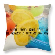 Bottoms Up Quote Throw Pillow