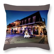 Boubon Bride - New Orleans Throw Pillow