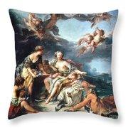 Boucher: Abduction/europa Throw Pillow