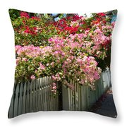 Bougainvillea In Old Eau Gallie Florida Throw Pillow