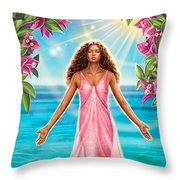 Bougainvillea - Purify Throw Pillow