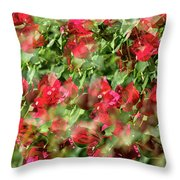 Bougainvillea Repeating Pattern Abstract I Throw Pillow