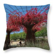 Bougainvilleas Tree Scultures Throw Pillow