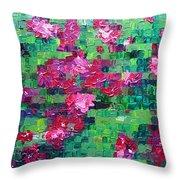 Bouganvillea - Tiled Throw Pillow
