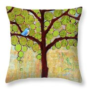Boughs In Leaf Tree Throw Pillow by Blenda Studio