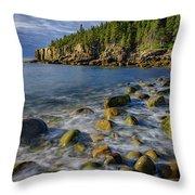 Boulder Beach Morning Throw Pillow