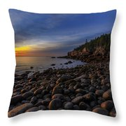 Boulder Beach Sunrise Throw Pillow