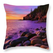 Boulder Beach Sunrise Throw Pillow