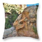 Boulder Castle Throw Pillow