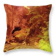 Boulder Cave  Throw Pillow