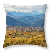 Boulder Colorado Autumn Scenic View Throw Pillow