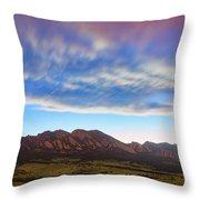 Boulder Colorado Dreaming Throw Pillow