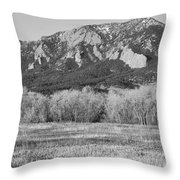Boulder Colorado Flatiron View From Jay Rd Bw Throw Pillow