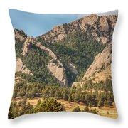 Boulder Colorado Rocky Mountain Foothills Throw Pillow