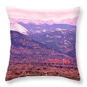 Boulder Colorado Sunrise Panorama Throw Pillow