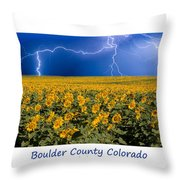 Boulder  County Colorado Throw Pillow