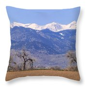 Boulder County Colorado Panorama Throw Pillow
