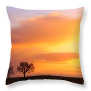 Boulder County Sunrise Throw Pillow