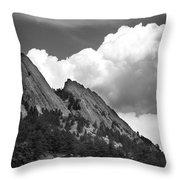 Boulder Flatirons 2 Throw Pillow