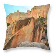 Boulder-notom Varnish Throw Pillow