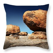 Boulder On Solid Rock Throw Pillow