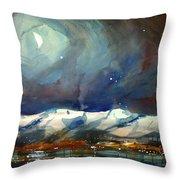 Boulder Winter Night Throw Pillow
