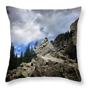 Bouldering On The Flint Creek Trail - Weminuche Wilderness Throw Pillow