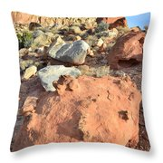 Boulders Above Camprground Throw Pillow