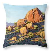 Boulders By Pinnacle Peak Mountain Throw Pillow