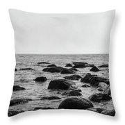 Boulders In The Ocean Throw Pillow